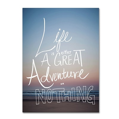 Trademark Fine Art Leah Flores Great Adventure 14 x 19 (ALI0690-C1419GG)