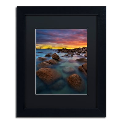 Trademark Fine Art Lincoln Harrison Beach at Sunset 4 11 x 14 (886511728400)