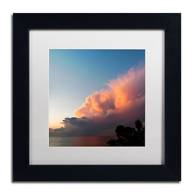 Trademark Fine Art Kurt Shaffer Distant Lightning at Sunset 11 x 11 (KS0148-B1111MF)