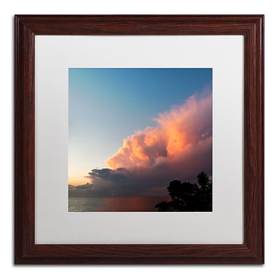 Trademark Fine Art Kurt Shaffer Distant Lightning at Sunset 16 x 16 (KS0148-W1616MF)