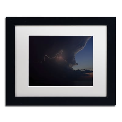 Trademark Fine Art Kurt Shaffer Sunset Thunderhead #3 11 x 14 (KS0152-B1114MF)