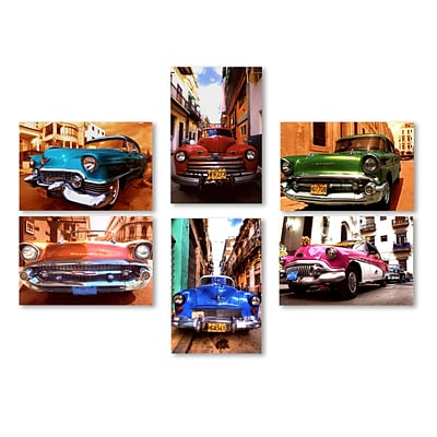 Trademark Fine Art Classic Cars Wall Collection 12 x 19 (WC0010-SET-6)