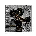Trademark Fine Art Roderick Stevens Movie Camera 14 x 14 (RS1002-C1414GG)