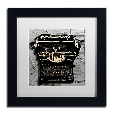 Trademark Fine Art Roderick Stevens Movie Typewriter 11 x 11 (RS1005-B1111MF)
