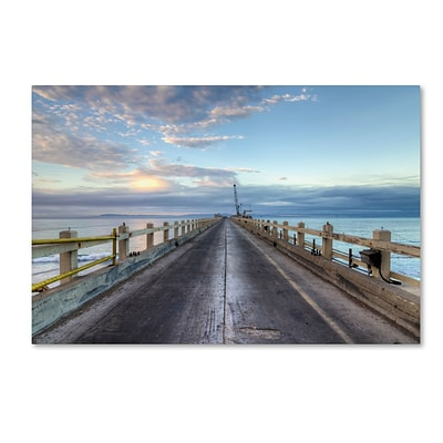 Trademark Fine Art Chris Moyer Carpinteria Pier View I 12 x 19 (ALI0771-C1219GG)