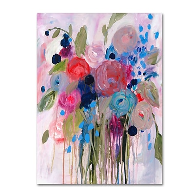 Trademark Fine Art Carrie Schmitt Fresh Bouquet 18 x 24 (ALI0787-C1824GG)