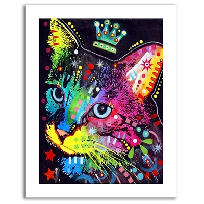 Trademark Fine Art Dean Russo Thinking Cat Crowned Paper Art 18 x 24 (ALI0245-1824-P)