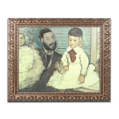 Trademark Fine Art Edgar Degas Comte le Pic and his Sons 11 x 14 (BL0382-G1114F)
