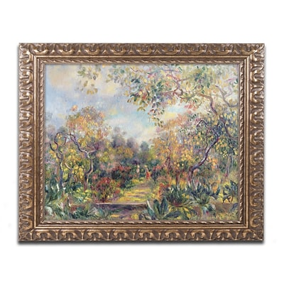 Trademark Fine Art Pierre Renoir Landscape at Beaulieu 11 x 14 (BL0448-G1114F)