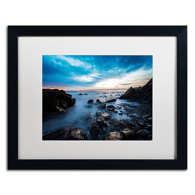 Trademark Fine Art Chris Moyer Bacara Twilight 16 x 20 (ALI0775-B1620MF)