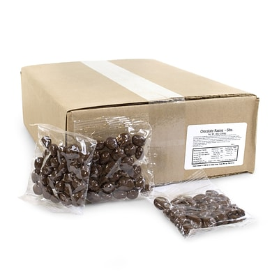 Everson Individually Wrapped Chocolate Raisins, 1.5 oz Bags, 5 lb (9209-00596)