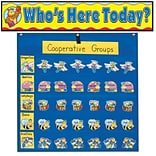 Carson-Dellosa Classroom Management Pocket Chart w/Attendance/Multiuse Replacement Cards PK-8 144205