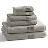 Kassatex Modal 6 Piece Towel Set; Marble Tan