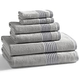 Kassatex Modal 6 Piece Towel Set; Silver Pond