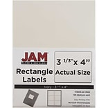 JAM Paper® Shipping Address Labels, Large, 3 1/3 x 4, Ivory, 120/Pack (17966069)
