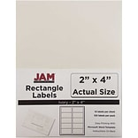 JAM Paper® Mailing Address Labels, 2 x 4, Ivory, 120/pack (17966070)