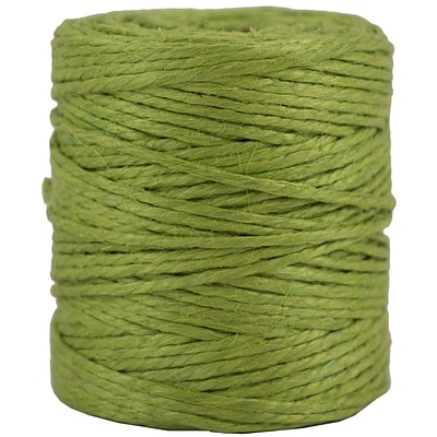 JAM Paper® Kraft Twine, 73 Yards, Lime Green, Sold Individually (267820978)