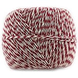 JAM Paper® Bakers Twine, 500 Yards, Red and White, Sold Individually (349527465)
