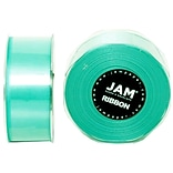 JAM Paper® Double Faced Satin Ribbon, 1.5 Inch Wide x 25 Yards, Teal Blue, Sold Individually (808SAT