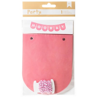American Crafts DIY Party Banner Kit, Pink & White (369847)