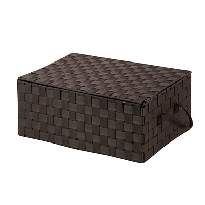 Honey Can Do Hinged Lid Woven Storage Box Espresso (OFC-03704)