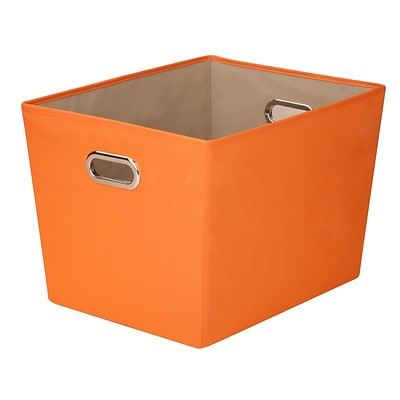 Honey Can Do Large Decorative Storage Tote with Handles Orange (SFT-03067)