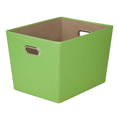 Honey Can Do Large Decorative Storage Tote with Handles Green (SFT-03076)