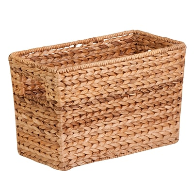 Honey Can Do Water Hyacinth Magazine Basket Natural (STO-02883)