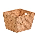 HCD Lg Tall Sq. Water Hyacinth Basket NAT