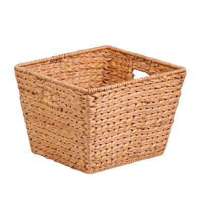 Honey Can Do Large Tall Square Water Hyacinth Basket Natural (STO-02884)