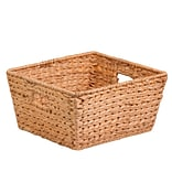HCD Lg Square Water Hyacinth Basket Natural