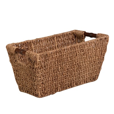 Honey Can Do Medium Seagrass Basket with Handles Natural (STO-02965)