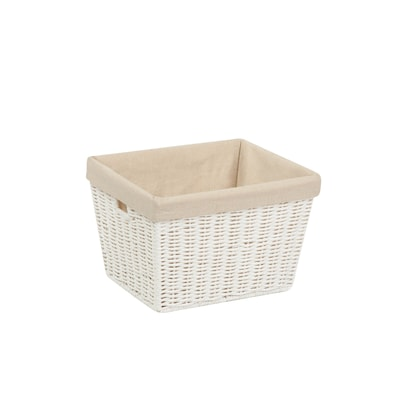 Honey Can Do Small Paper Rope Storage Tote With Liner White (sto 03560)