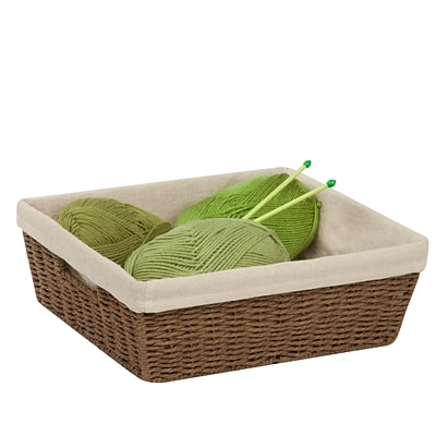 Honey Can Do Paper Rope Shelf Basket With Liner Brown (STO 03564)