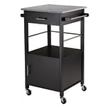 Davenport Kitchen Cart; Granite Top, Black