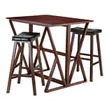 Drop Leaf Table w/29 Seat Stools Walnut
