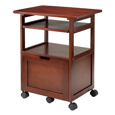 Winsome Piper Work/Printer Cart, Walnut (94427)