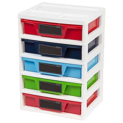 IRIS® 5 Drawer Boys Storage & Organizer Chest, 2 Pack (150332)