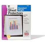Non-Glare Sheet Protectors; Polypropylene, Clear, 8-1/2 x 11, Box of 100 (CHL48281)