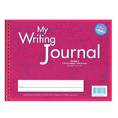 My Writing Journal; Liquid Color, 5/8 ruling, Grade 1, Pink 10.5 x 8 (ELP0601)