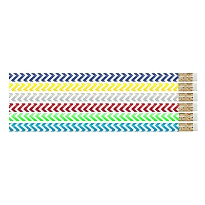 Musgrave Chevron Chic Motivational/Fun Pencils, Pack of 144 (MUS2540G)