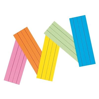 Flash Cards, Recyclable, 1-1/2 Ruled, 3x9, 100/PK, Assorted