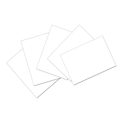 Pacon® Index Cards; 4x6, Unruled, White, 100 cards (PAC5142)