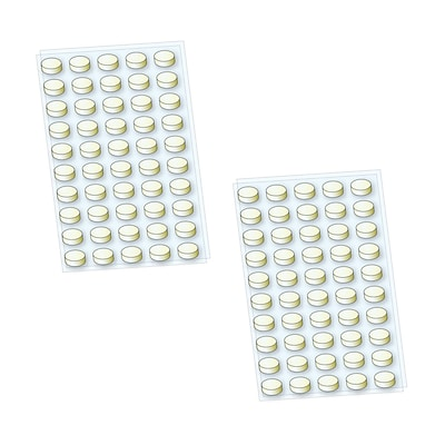 StikkiDOTS Removable & Reusable adhesive dots; White, 6 x 3 100 dots per pack. (02100)