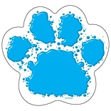 Classic Accents 5.5 x 6 Paw Print; Blue/White (T-10085)