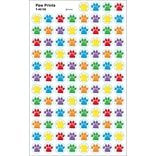 Paw Prints, stickers, Multicolor, 800pk