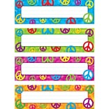 Peace Signs Toppers Name Plates Variety 32p