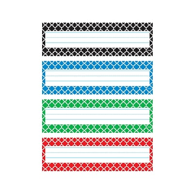 Moroccan Desk Toppers® Name Plates VPk 32/pkg 2.88 x 9.5  (T-69950)