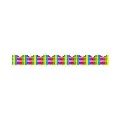 Trend® Terrific Trimmers®; Rainbow Plaid