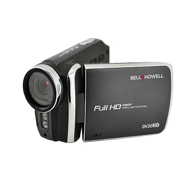 Bell & Howell Fun Flix DV30HD 1080p HD 20MP Digital Camcorder with 3 Touchscreen, 1x Optical, Black